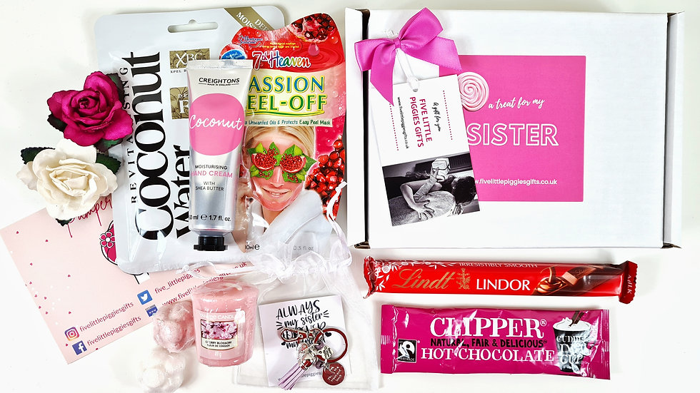 Sister personalised pamper gift box