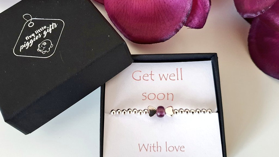 Get well soon gift bracelet - bow