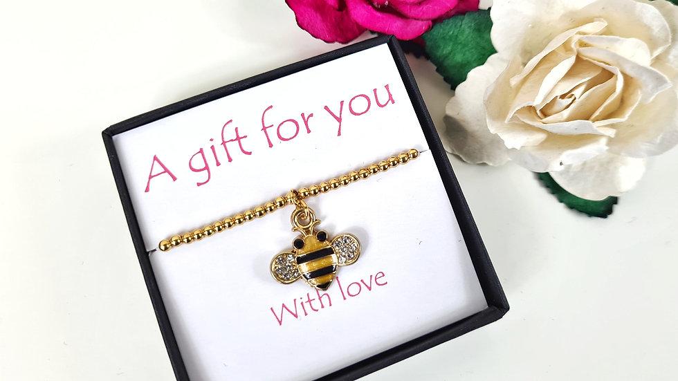 Bumblebee gift bracelet