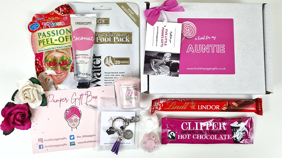 Auntie personalised pamper gift box
