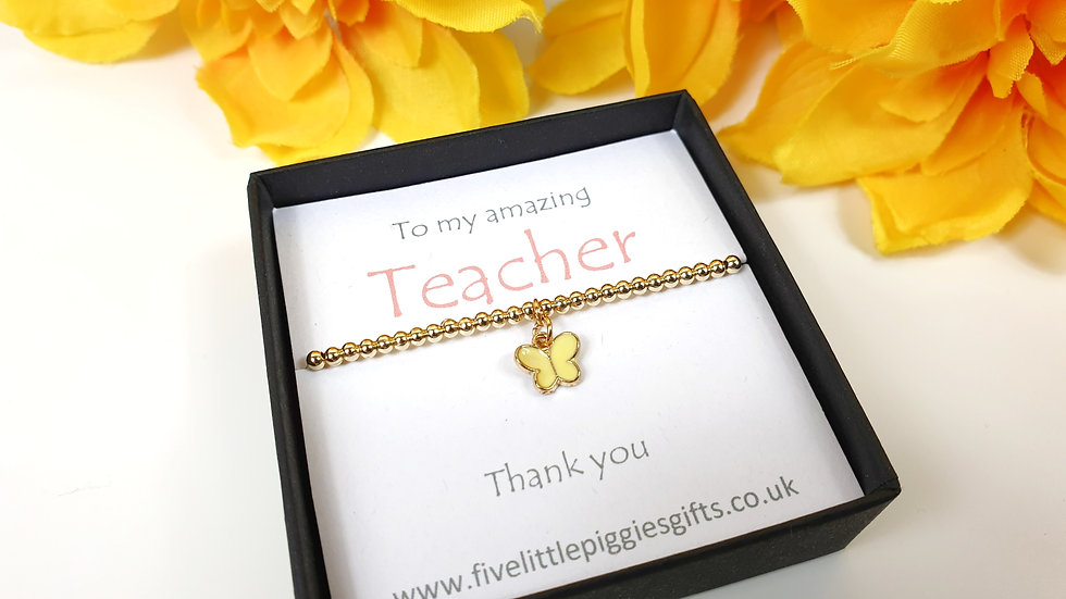 Teacher gift bracelet - butterfly