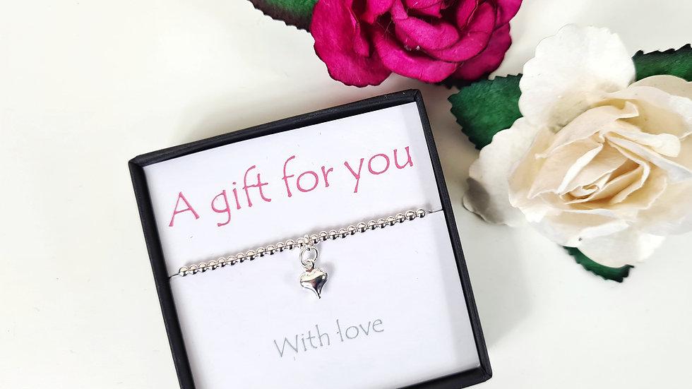 Heart gift bracelet