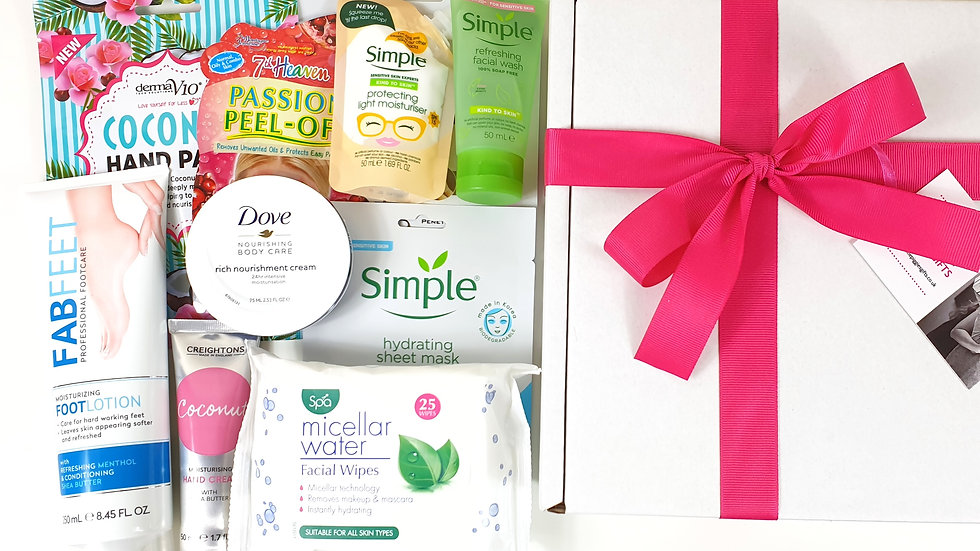 Skincare pamper box