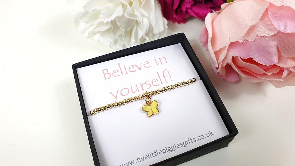Believe in Yourself gift bracelet - butterfly