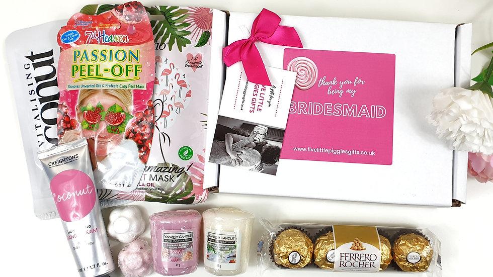 Bridesmaid pamper gift box
