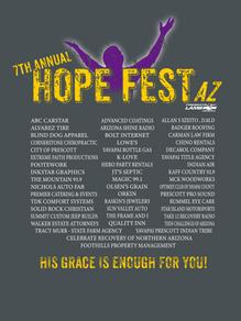 Hope Fest AZ 2018 festival shirt close up back