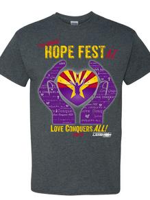 Hope Fest AZ 2018 festival shirt front
