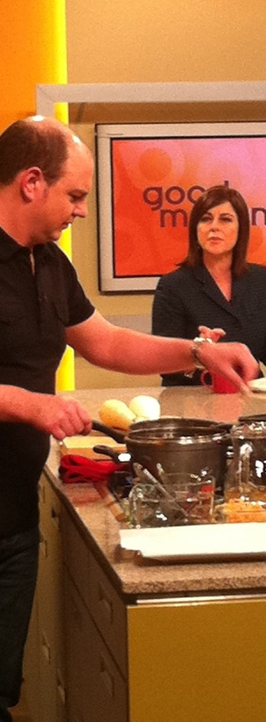 Chef Ben Batterbury TV show cooking good morning nz