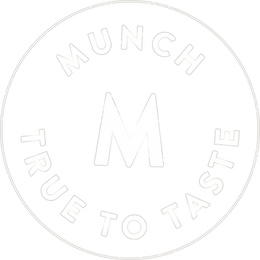 Munch catering true to taste logo stamp white