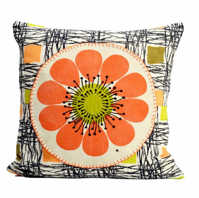 sketches applique cushion