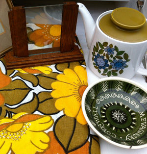 assortment of vintage items