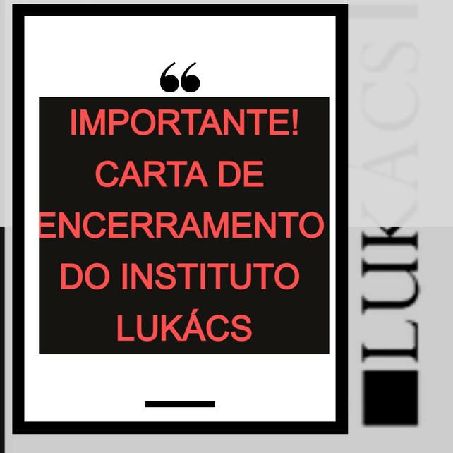 CARTA DE ENCERRAMENTO DO IL