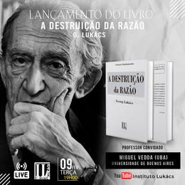 """LIVE: LANÇAMENTO DO LIVRO """"A DESTRUIÇÃO DA RAZÃO"""""""