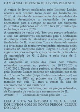 CAMPANHA DE VENDA DE LIVROS PELO SITE