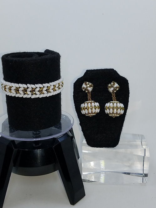 """Regal Affair"" Bracelet & Earring Set"