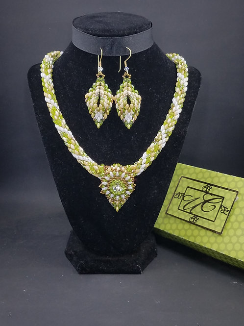 """""""Ethereal Delight"""" Necklace & Earring Set"""