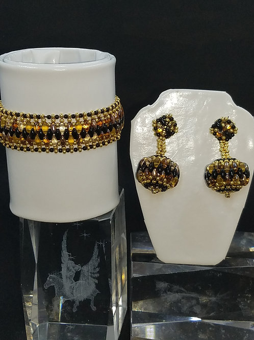 """Onyx Royalty"" Bracelet & Earring Set"