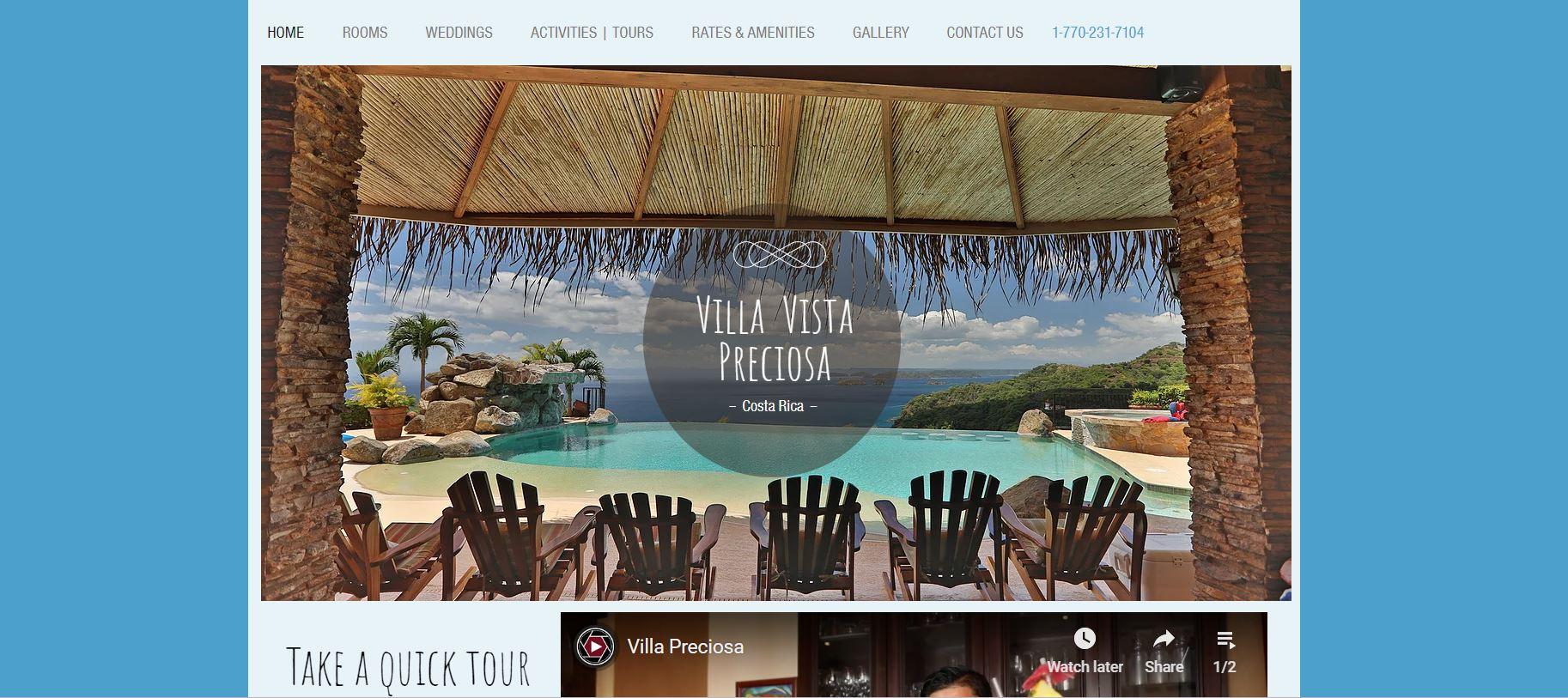 villa website