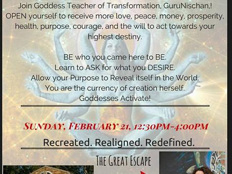 Goddess Activation February 21st 12:30-4