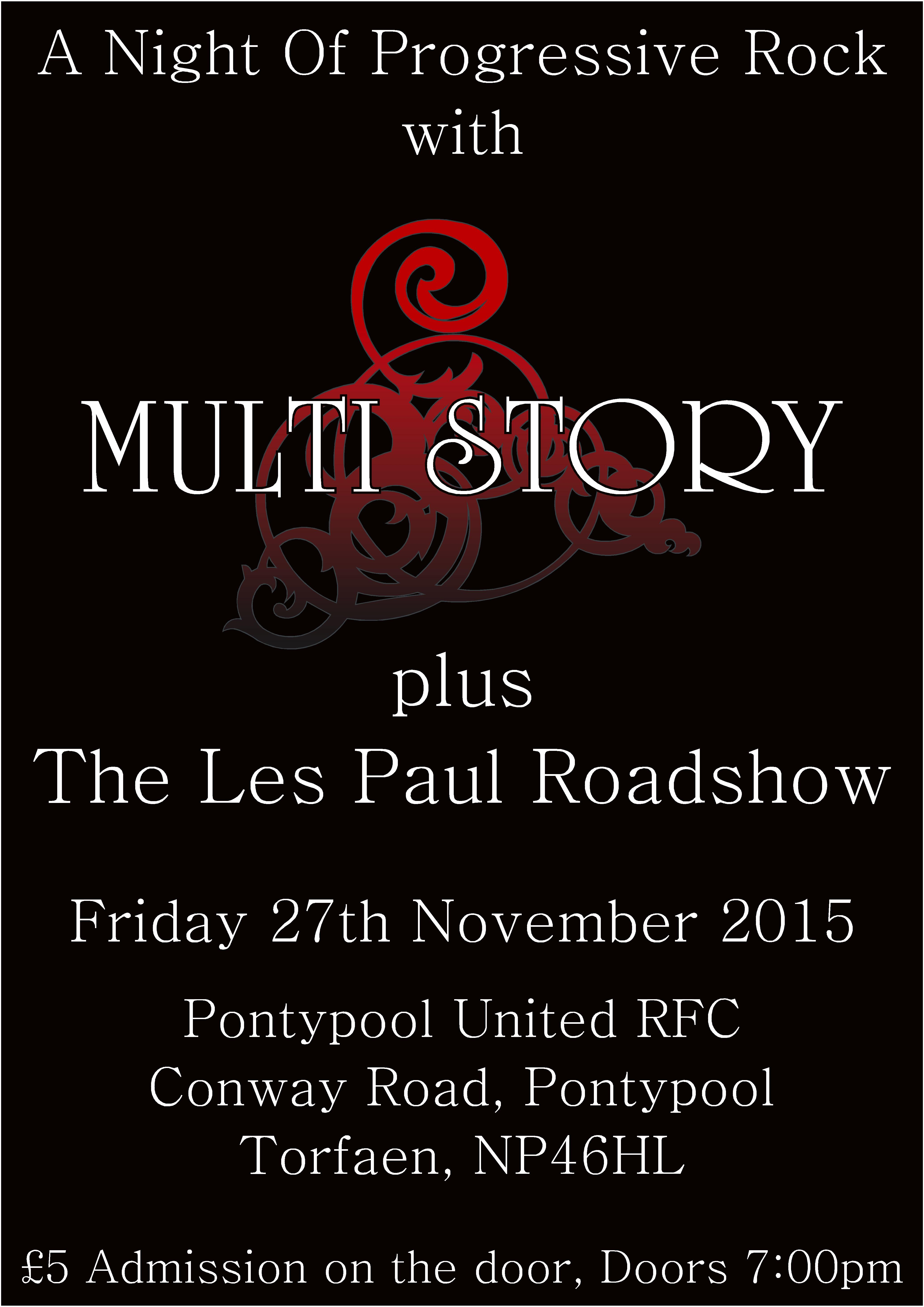 Multi Story A4 Pontypool Poster...