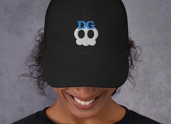 Deadgirl Skull Logo Dad Hat (Blue Text)