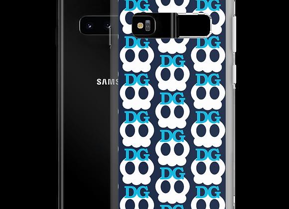 Deadgirl Skull Samsung Case (Blue Text)