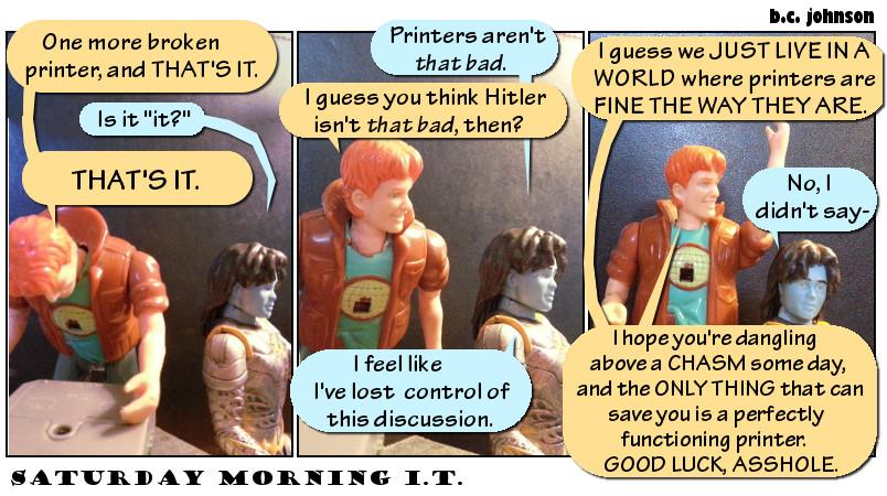 Saturday Morning IT Cliffhanger