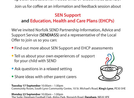 Invitation for families of students with SEND
