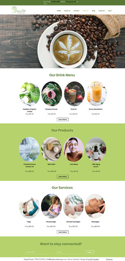 Wix Website CBD Cafe