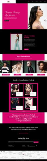 Wix Website Beauty Brand