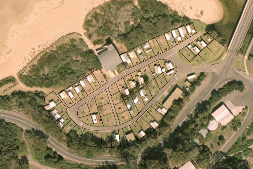 Wye campground site plan