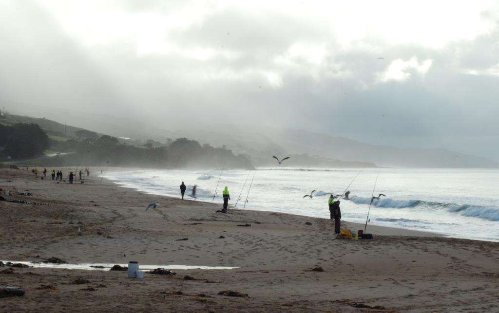 Fishing on the main beach