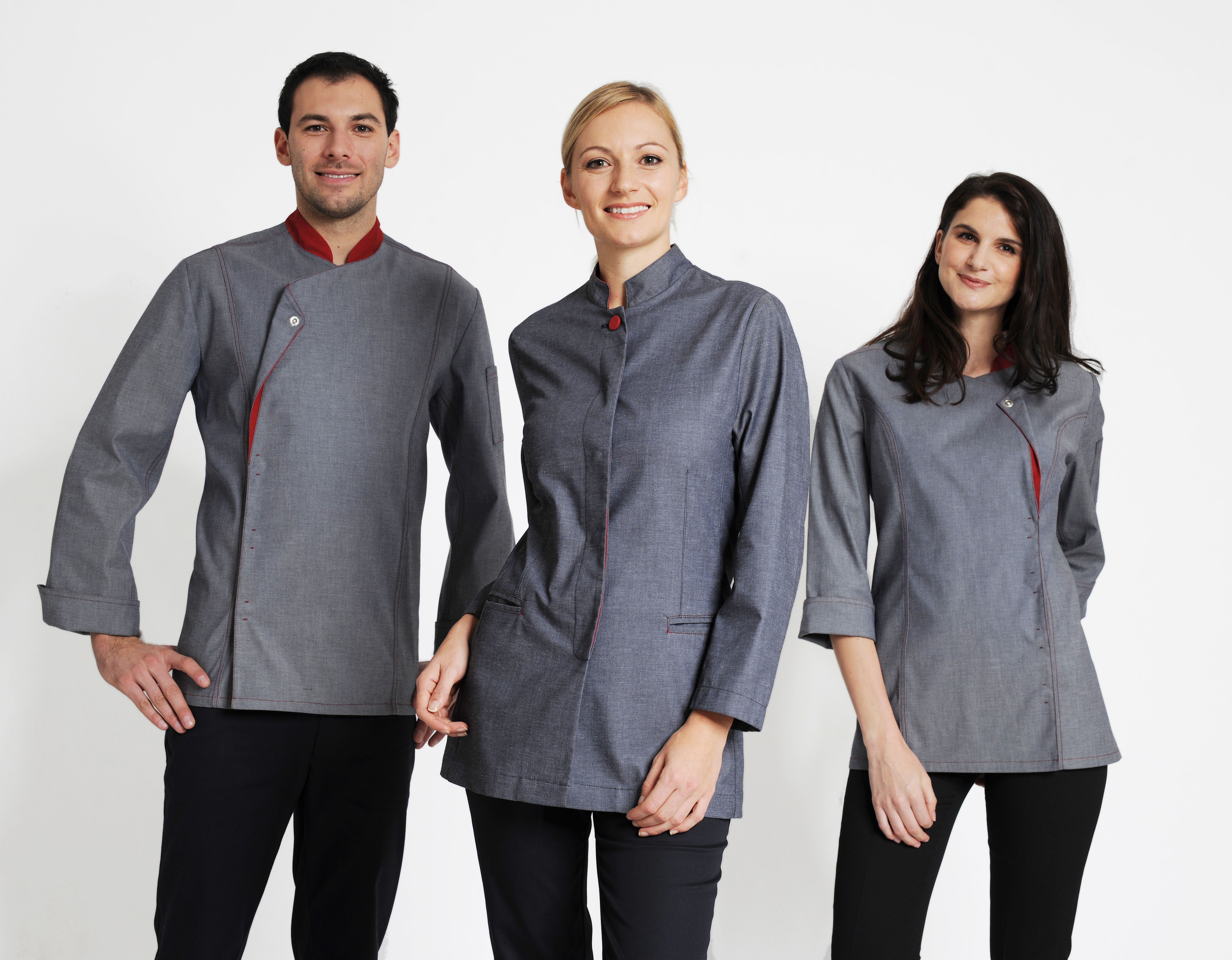 Trendfarbe grau Kochbekleidung