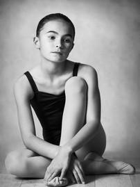 Young ballerina studio portrait