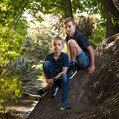 Outdoor family portrait in Christchurch
