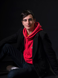 Teenage senior studio portrait photograp