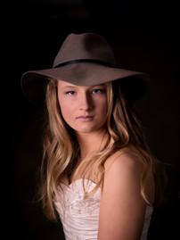 senior portrait photograph  in the studi