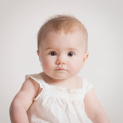 baby portrait photograph in the studio