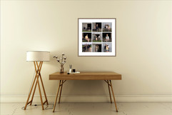 Grid portrait photography wall art