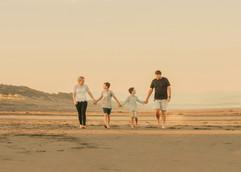 Family beach photo session