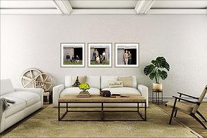Set of framed family portraits
