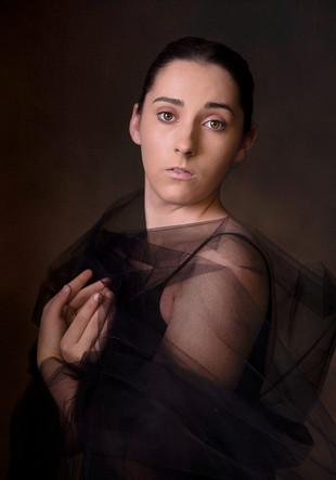 Senior fine art studio portrait