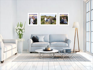 lounge with portrait wall Art collection