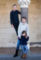 Family photograph of cousins by portrait