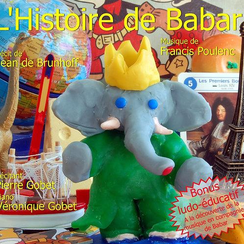 CD -L'Histoire de Babar - Véronique Gobet, Pierre Gobet