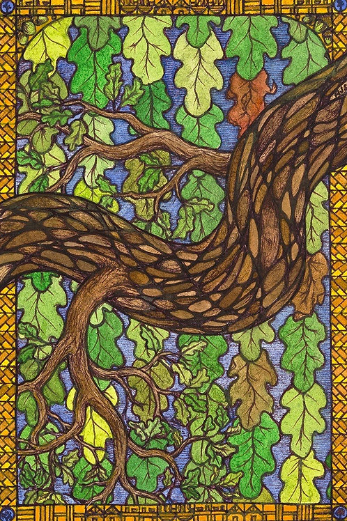 Oak, Branch and Leaf