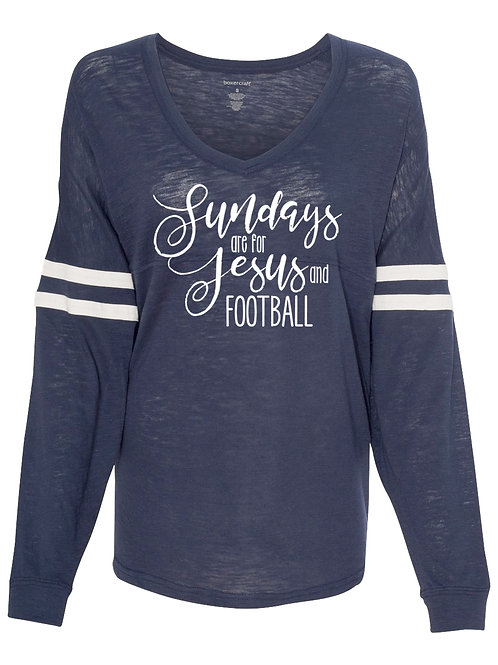 Sundays are for Jesus and Football Long Sleeve Jersey
