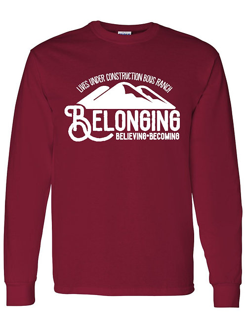 Mountains Long Sleeve Shirt : white lettering