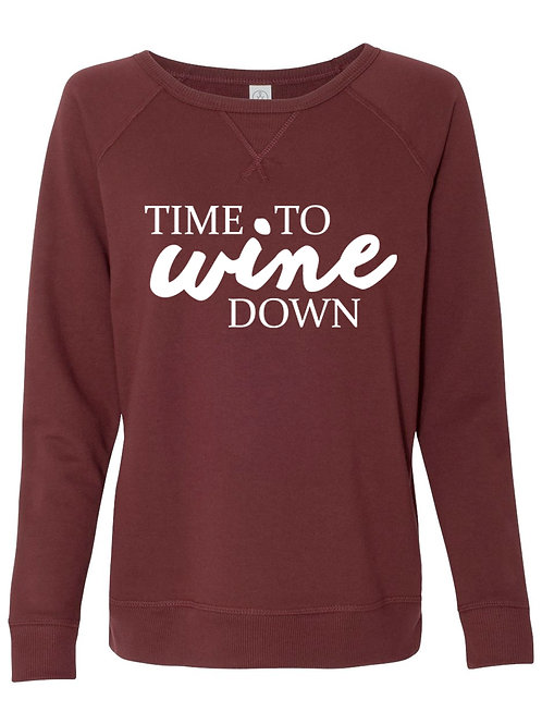 Time to Wine Down French Terry Pullover Sweatshirt