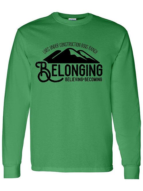 Mountains Long Sleeve Shirt : black lettering